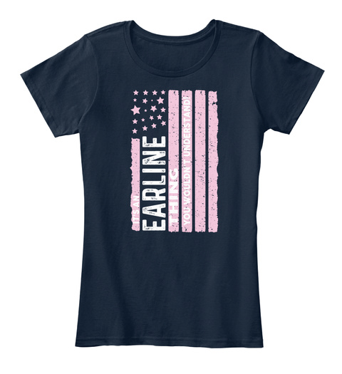 Earline Thing, Earline Flag New Navy T-Shirt Front