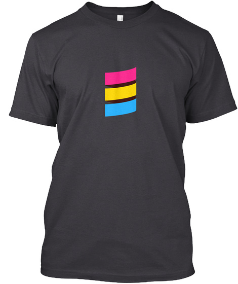 Scala Pride (Pansexual Pride) Charcoal Black áo T-Shirt Front