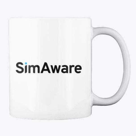 Sim Aware Logo Mug White T-Shirt Back