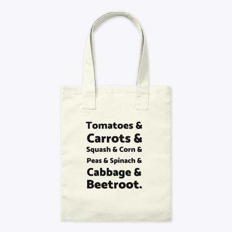 List Of Vegetables Natural T-Shirt Front