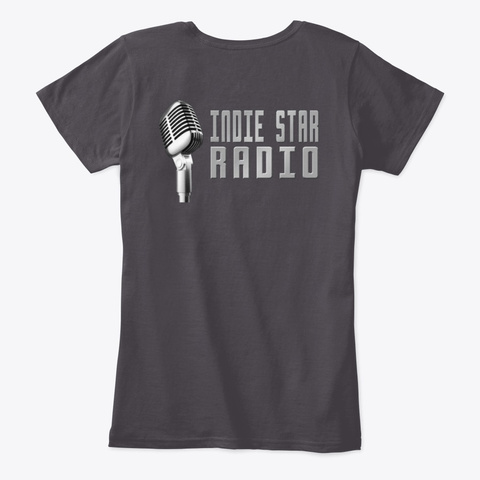 Official Indie Star Radio Ladies Tshirt  Heathered Charcoal  T-Shirt Back