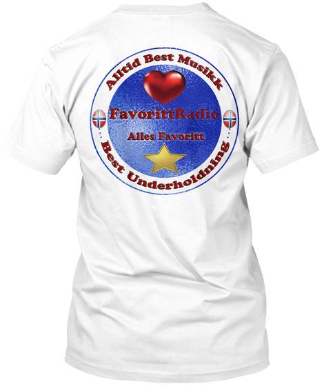 Favorittradio White T-Shirt Back