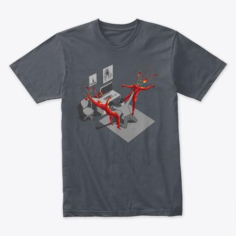 Virtual Slo Mo Boy Heavy Metal T-Shirt Front