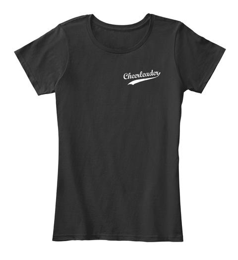 Cheerleader Black T-Shirt Front