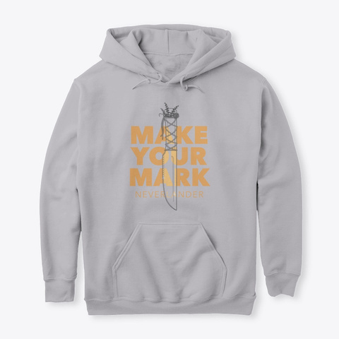 'make Your Mark'  Wyn's Blade Hoodie Sport Grey T-Shirt Front