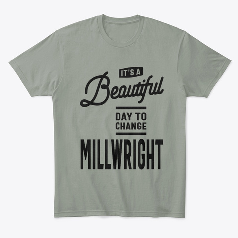 Millwright Work Job Title Gift Grey T-Shirt Front