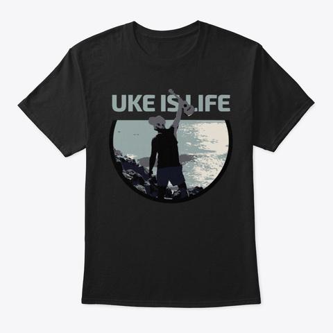 Unisex Tee  Black T-Shirt Front