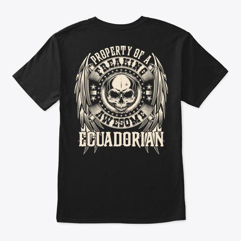Awesome Ecuadorian Shirt Black T-Shirt Back