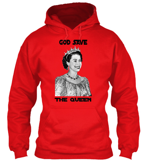 God Save The Queen Fire Red T-Shirt Front