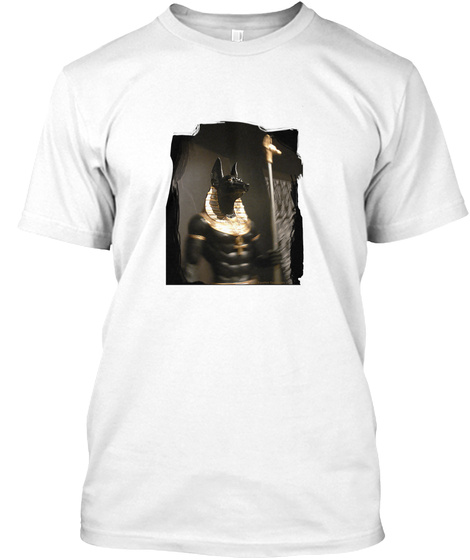 Black Anubis (By Acci) White T-Shirt Front