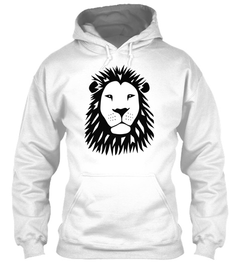 Lion Tiger Cat King Animal Kingdom Afric White T-Shirt Front