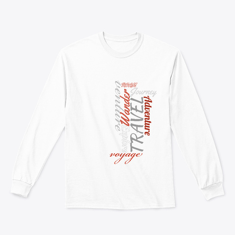 Travel Art   The Travel Collection White Maglietta Front