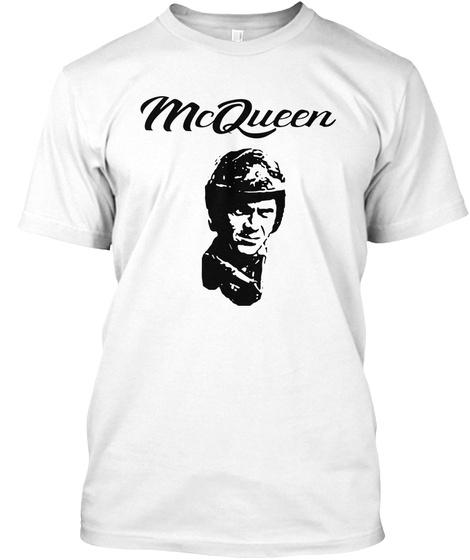 Desert Sled Co. Tshirt Steve Mcqueen V2 White T-Shirt Front