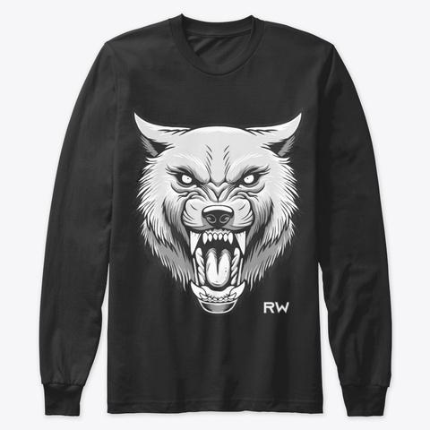 Raging Wolf Extreme Sweatshirt Black T-Shirt Front