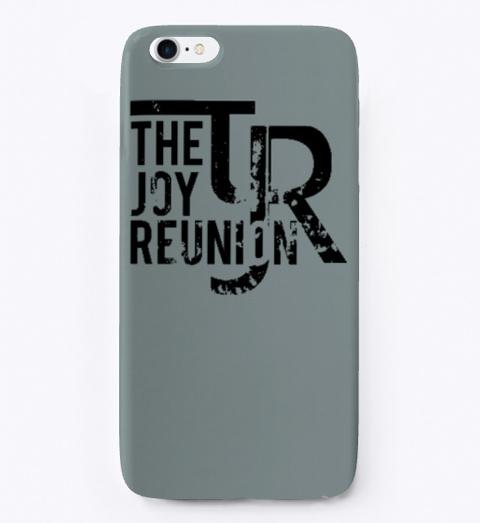 "Tjr I Phone Case ""Rust"" Logo Medium Grey T-Shirt Front"