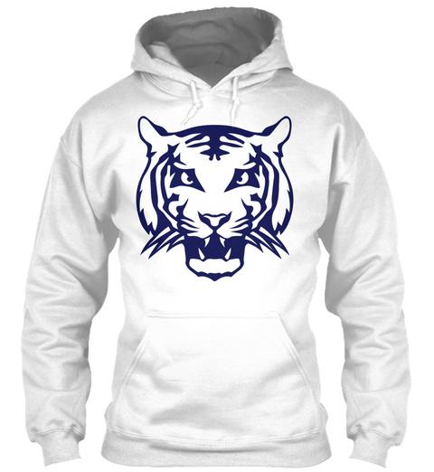 Tiger Wild Animal Head 31073 White T-Shirt Front