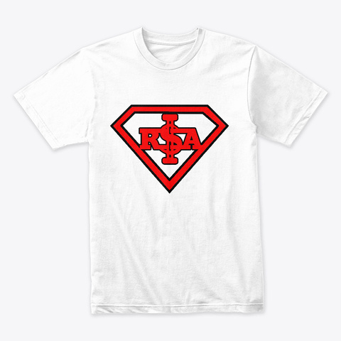 R$A Logo Tee White T-Shirt Front