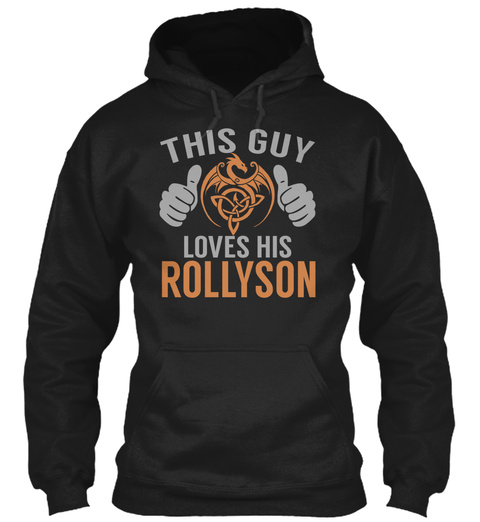 Rollyson   Guy Name Shirts Black T-Shirt Front