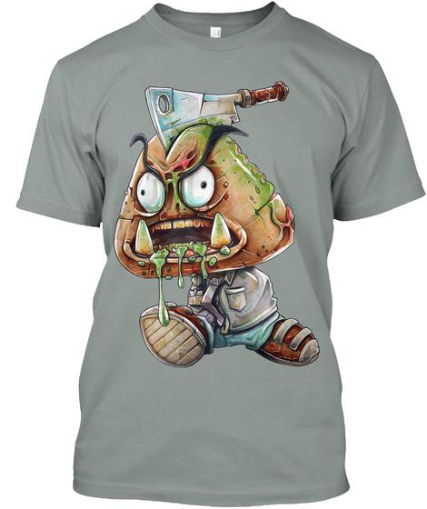 Zombie Goomba  Warm Grey T-Shirt Front