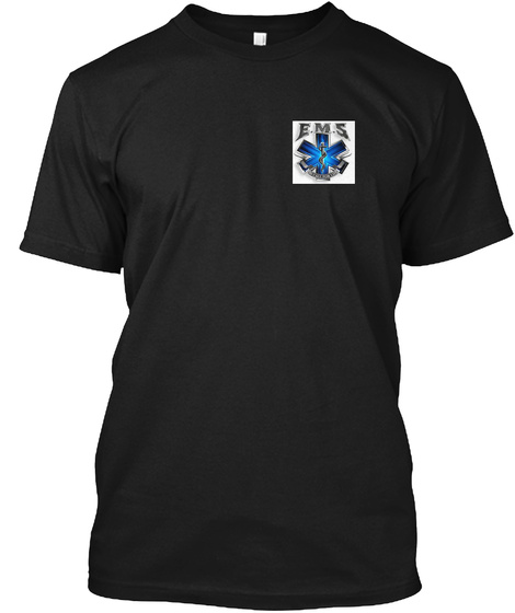 Ems Black T-Shirt Front