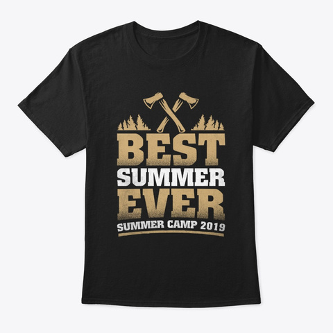 Funny Summer Camping T Shirt Gift Black T-Shirt Front