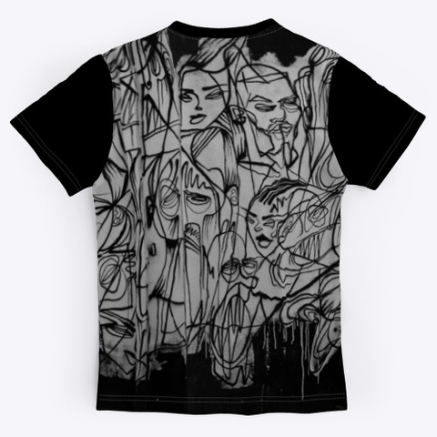 T Shirt: Artistic Team Black T-Shirt Back