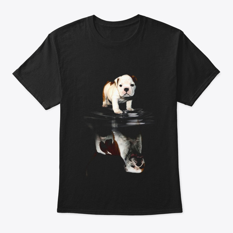 American Bulldog Black T-Shirt Front