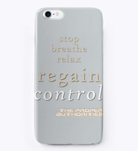 Regain Control: Stop, Breathe, Relax Light Grey T-Shirt Front
