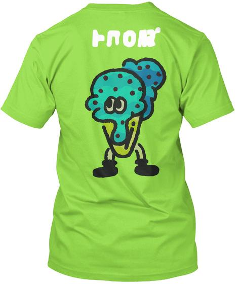 Team Ice Cream   Splatfest Shirt Lime T-Shirt Back