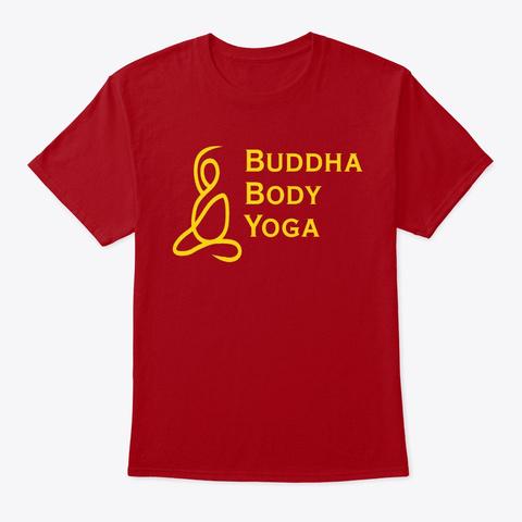 Buddha Body Yoga Logo Tees Deep Red T-Shirt Front