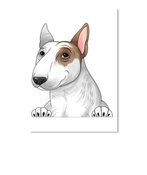 Bull Terrier Decal 09 White T-Shirt Front