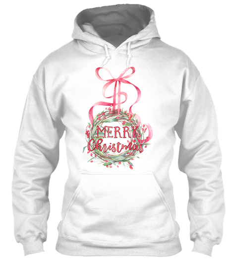 Merry Christmas White T-Shirt Front