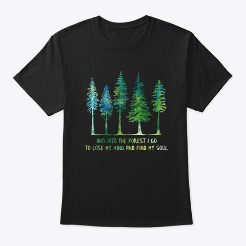 Flower Children Into Forest Costume Black T-Shirt Front