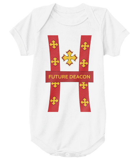 Future Coptic Deacon White T-Shirt Front