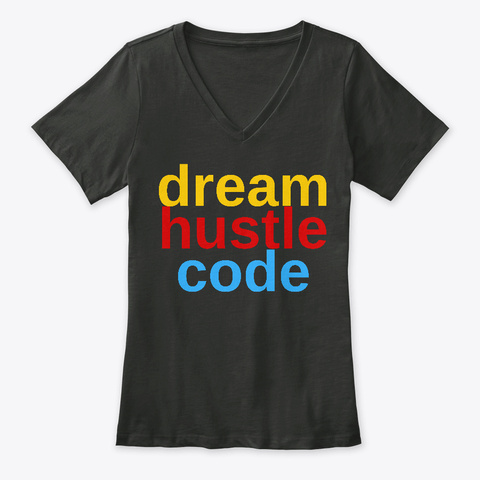 Dream Hustle Code Classics Black T-Shirt Front