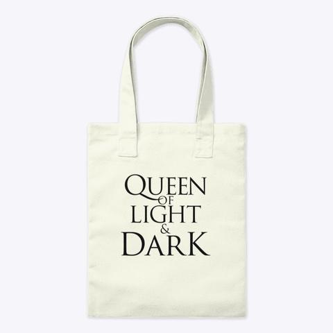 Queen Of Light & Dark Accessories Natural T-Shirt Front