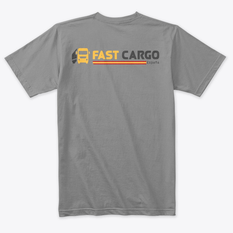 Fast Cargo Esp   T Shirt [White Or Grey] Premium Heather T-Shirt Back