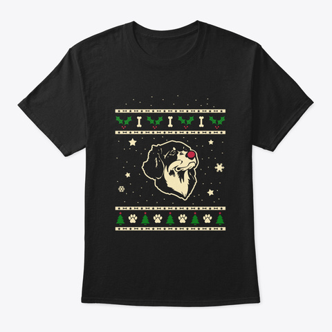 Christmas Hovawart Gift Black T-Shirt Front