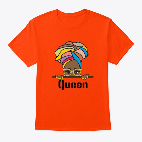 Queen Collection Orange T-Shirt Front