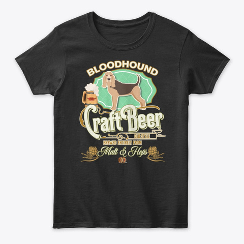 Bloodhound Gifts Black T-Shirt Front