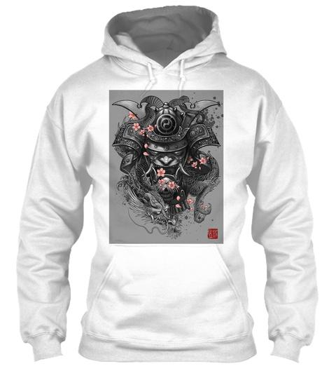 The Dark Samurai Hoodie White Sweatshirt Front
