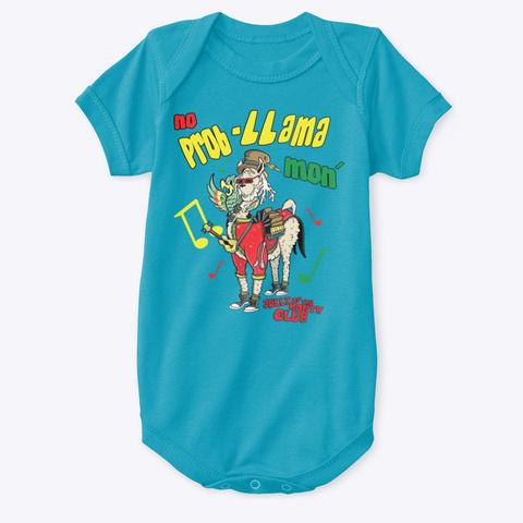No Prob L Lama Mon Turquoise T-Shirt Front