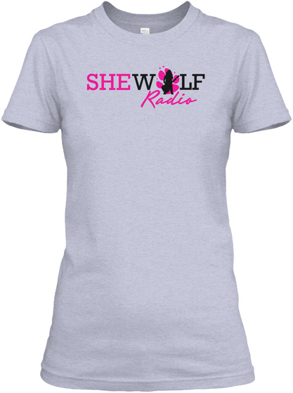 She Wolf Radio Tees And Tanks Heather Gray  T-Shirt Front
