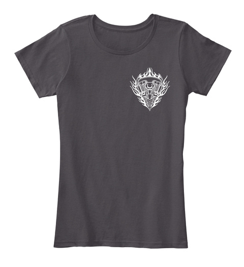 Motorcycle Princess Heathered Charcoal  Women's T-Shirt Front