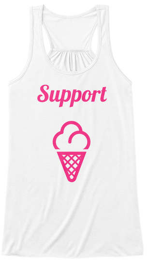 Support White T-Shirt Front