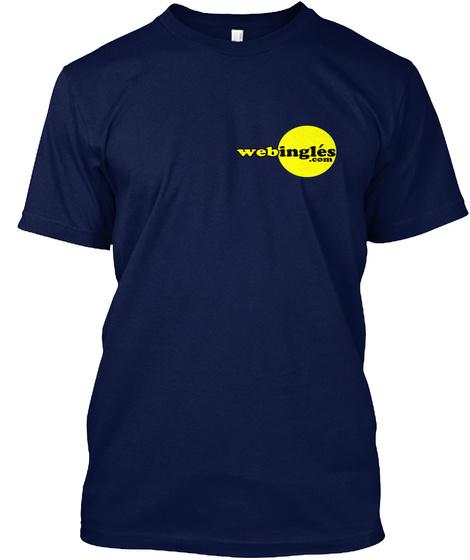 Webingles Logo Pequeño Navy T-Shirt Front