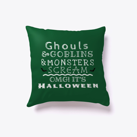 Ghouls, Goblins And Monsters Dark Green T-Shirt Front