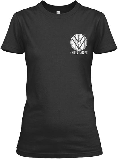 Shieldmaiden Black Women's T-Shirt Front