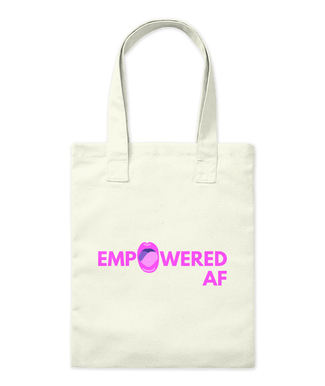 Totally Empowered Natural Tote Bag Front