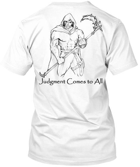 Cosmic Watcher M White T-Shirt Back